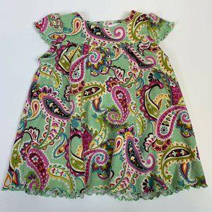 Vera Bradley Baby Dress 3-6 Months Green Pink